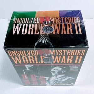 Unsolved Mysteries WWII VHS 6 Tape Box Set NOS